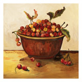 Bowl of Cherries Poster by Suzanne Etienne