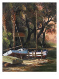 River Camp Reproduction procédé giclée par Art Fronckowiak