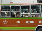 Close-Up of the Side of a Local Bus in Ayutthaya, Thailand, Southeast Asia Photographic Print by Charcrit Boonsom