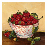 Bowl of Strawberries Prints by Suzanne Etienne
