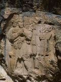 Rock Relief of Local Hittite Ruler Paying Homage to the God of Fertility, 8th C BC, Ivriz, Turkey Photographic Print by Richard Ashworth