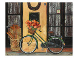 Bicycle with Flowers Giclee Print by Suzanne Etienne