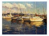 Boats on Glassy Harbor Plakater av  Furtesen