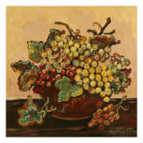 Bowl of Grapes Posters by Suzanne Etienne