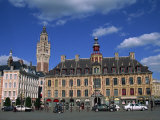 Vielle Bourse on the Grand Place in the City of Lille in Nord Pas De Calais, France, Europe Photographic Print by Nelly Boyd