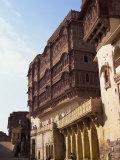 Screened Ladies Quarters Above Courtyard, Meherangarh Fort, Jodhpur, Rajasthan State, India Photographic Print by Richard Ashworth