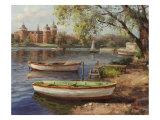 Afternoon Dock Premium Giclee Print by  Furtesen