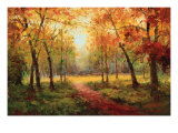 A Beautiful Walk in the Fall Reproduction procédé giclée par Weber