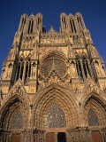 West Front Facade of Rheims Cathedral, Rheims, Champagne, France, Europe Photographic Print by Richard Ashworth