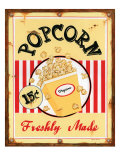 Popcorn Freshly Made Poster by Lesley Hallas
