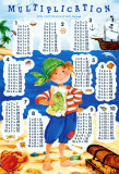 Multiplication Table - Pirate Affiche