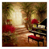 Illuminated Music Room Giclee Print by Foxwell