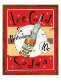 Ice Cold Sodas Giclee Print by Lesley Hallas