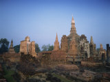 Ruins of Sukhothai, UNESCO World Heritage Site, Thailand, Southeast Asia Photographic Print by Charcrit Boonsom