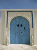 Detail of Door, Carthage, Tunisia, North Africa, Africa Photographic Print by Nelly Boyd