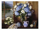 Hydrangeas in Italy Impresso gicle por Hope Reis