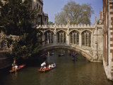 Bridge of Sighs over the River Cam at St. John's College, Cambridge, Cambridgeshire, England, UK Photographic Print by Nigel Blythe