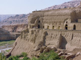 Bazilik Grottoes of Buddhist Art at Turfan, Xinjiang, China Photographic Print by Tom Ang