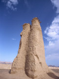 Tang Dynasty Watch Tower at Kuqa Ancient City in Xinjiang, China Photographic Print by Tom Ang