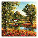 The Cottage Print by Peggy Corthouts