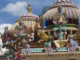 Sri Mariamman Temple, a Hindu Temple in Singapore, Southeast Asia Photographic Print by Charcrit Boonsom