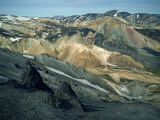Volcanic Mountains Formed Mainly of Rhyolite at Landamannalaugar, Iceland, Polar Regions Photographic Print by Nigel Callow
