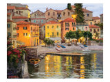 Dusk Reflections Lake Como Prints by Erin Dertner