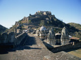 Paved Battlements, Temples and Badal Mahal, Kumbalgarh Fort, Rajasthan State, India Photographic Print by Richard Ashworth