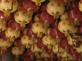 Lanterns in the Kek Lok Si Temple at Air Hitam, Penang, Malaysia, Southeast Asia Photographic Print by Charcrit Boonsom