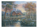 Luminescent Brook Premium Giclee Print by Carl Valente