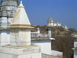 Jain Temples on Hillside, Sonagiri, Madhya Pradesh State, India Photographic Print by Richard Ashworth