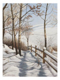 Fresh Snow Prints by Lene Alston Casey