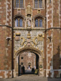Front Gate of St. John&#39;s College Built 1511-20, Cambridge, Cambridgeshire, England, UK Photographic Print by Nigel Blythe