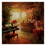 Illuminated Lounge Giclee Print by Foxwell