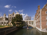 Punting under the Bridge of Sighs, River Cam at St. John's College, Cambridge, England Photographic Print by Nigel Blythe