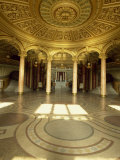 Interior of the Entrance Lobby of the Atheneum Concert Hall in Bucharest, Romania, Europe Photographic Print by Tom Ang