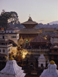 Pashupatinath Temple, UNESCO World Heritage Site, Kathmandu, Nepal Photographic Print by Nigel Blythe