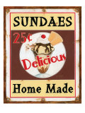 Sundaes Giclee Print by Lesley Hallas