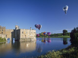 Hot Air Balloons Taking Off from Leeds Castle Grounds, Kent, England, United Kingdom, Europe Photographic Print by Nigel Blythe