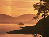 Mist Rising on Derwent Water at Dawn, Lake District National Park, Cumbria, England, United Kingdom Photographic Print by Nigel Blythe