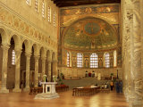 Church Interior with Mosaics, South East of Ravenna, Emilia-Romagna, Italy Photographic Print by Richard Ashworth