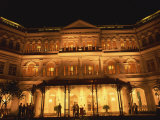 Facade of the Raffles Hotel at Night in Singapore, Southeast Asia Photographic Print by Steve Bavister