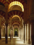 Interior of the Mezquita or Mosque at Cordoba, Cordoba, Andalucia), Spain Photographic Print by Michael Busselle