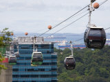 Sentosa Island Cable Cars, Singapore Photographic Print by Pearl Bucknall