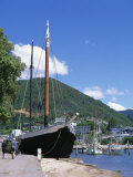 A.S.Echo Moored in Harbour at Picton, Marlborough Sounds, Marlborough, New Zealand Photographic Print by Jeremy Bright