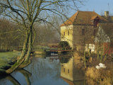 Watermill Reflected in Still Water, Near Montreuil, Crequois Valley, Nord Pas De Calais, France Photographic Print by Michael Busselle