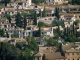Aerial View over Section of Granada, Seen from the Alhambra, Andalucia, Spain, Europe Photographic Print by Steve Bavister
