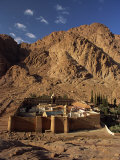 Aerial View over St. Catherines Monastery, UNESCO World Heritage Site, Egypt, Sinai Photographic Print by Julia Bayne