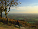 South Downs from the Greensand Ridge, Pitch Hill, Ewhurst, Surrey, England, UK Photographic Print by Pearl Bucknall