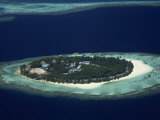 Small Island Developed for Tourism, Maldives, Indian Ocean Photographic Print by Julia Bayne